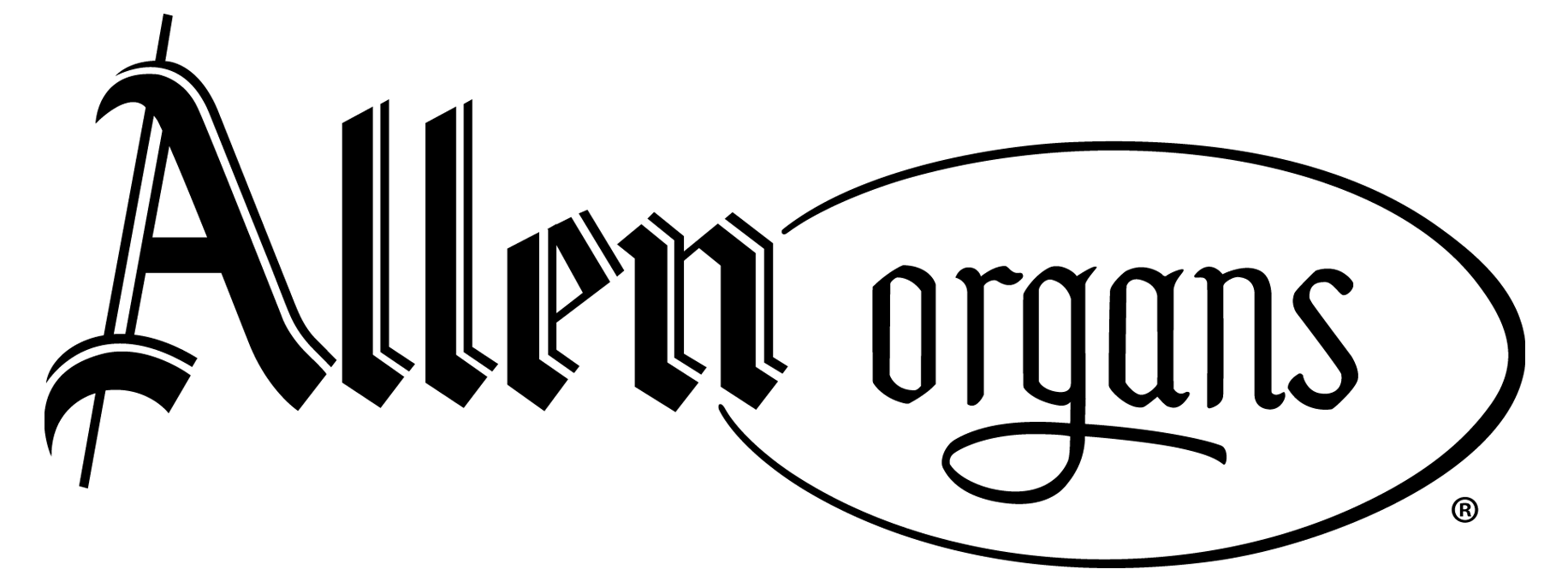 ALLEN ORGANS LOGO BLACK png